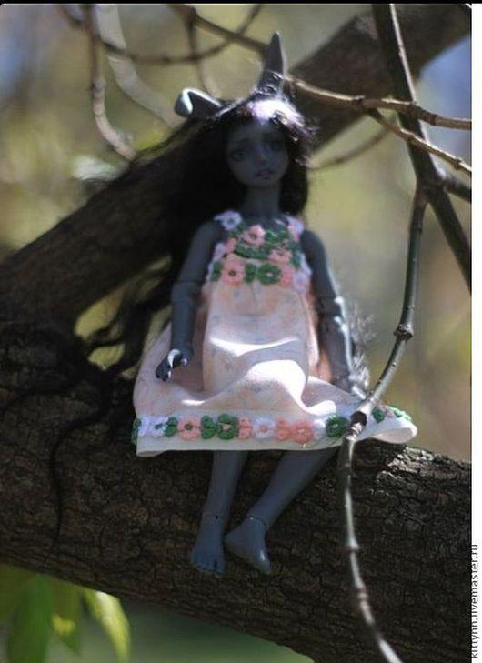 Коллекционные куклы ручной работы. Ярмарка Мастеров - ручная работа. Купить Серая зайка. Handmade. Серый, шарнирные куклы