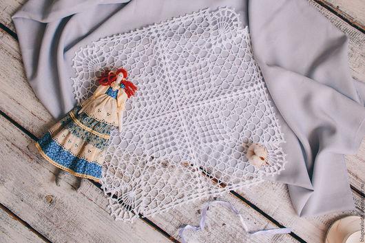 """Текстиль, ковры ручной работы. Ярмарка Мастеров - ручная работа. Купить Салфетка ажурная крючком """"Берта"""". Handmade. Белый, уют"""