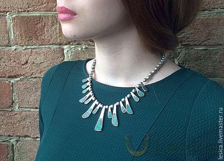 Cleopatra Necklace Silver 925 MEXIKO Vintage, Vintage necklace, Ramenskoye,  Фото №1