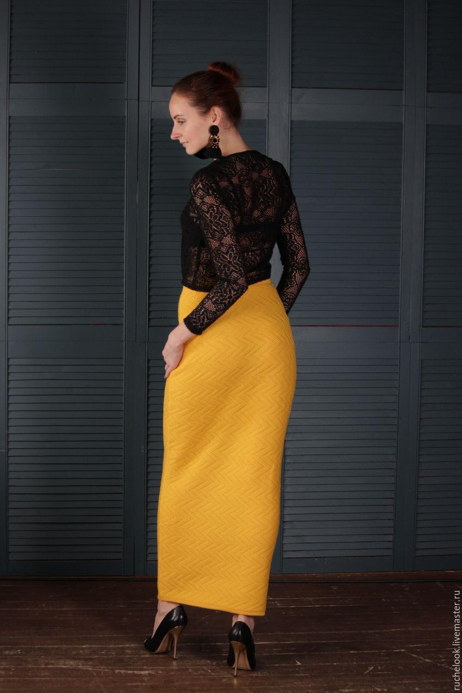 вязаная длинная юбка в пол яркая юбка длинная теплая юбка купить