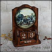 Канцелярские товары handmade. Livemaster - original item Perpetual calendar Retro car