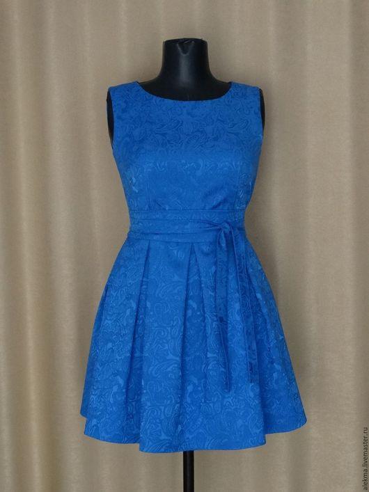 Платья ручной работы. Ярмарка Мастеров - ручная работа. Купить платье коктельное цвета индиго размер 42-44  Голубая лагуна. Handmade.