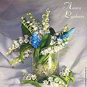 Цветы и флористика ручной работы. Ярмарка Мастеров - ручная работа Ландыши и мускари  букет. Handmade.