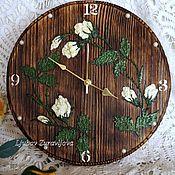 Для дома и интерьера ручной работы. Ярмарка Мастеров - ручная работа Часы ,,Белые розы,,. Handmade.