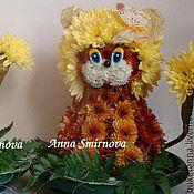 Цветы и флористика ручной работы. Ярмарка Мастеров - ручная работа Лев из цветов. Handmade.