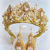 """Свадебный салон ручной работы. Ярмарка Мастеров - ручная работа Тиара """"Golden"""". Handmade."""