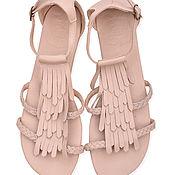 Обувь ручной работы. Ярмарка Мастеров - ручная работа Summer Lush. Женственные кожаные сандалии с бахромой.. Handmade.