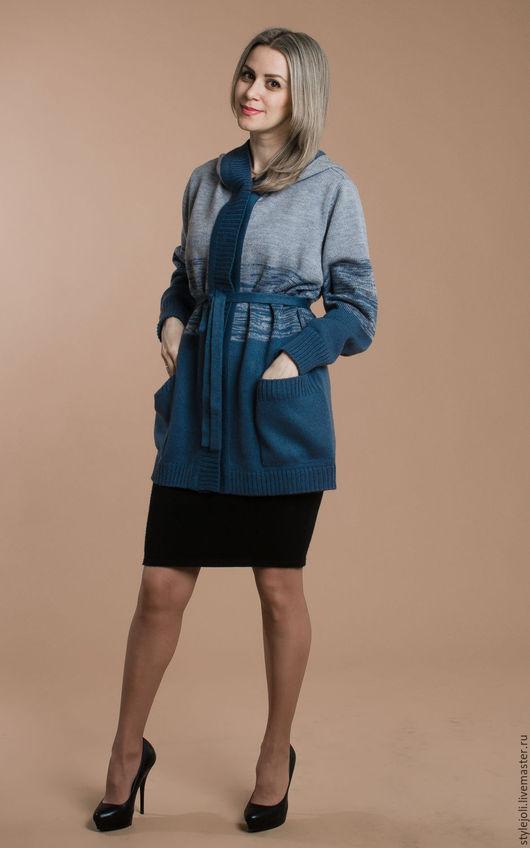 Кофты и свитера ручной работы. Ярмарка Мастеров - ручная работа. Купить Штиль- курточка вязаная с эффектом деграде. Handmade. Комбинированный