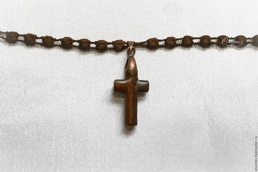 Браслеты ручной работы. Ярмарка Мастеров - ручная работа. Купить FSL вышитый браслет Сила души крест из палисандра унисекс. Handmade.