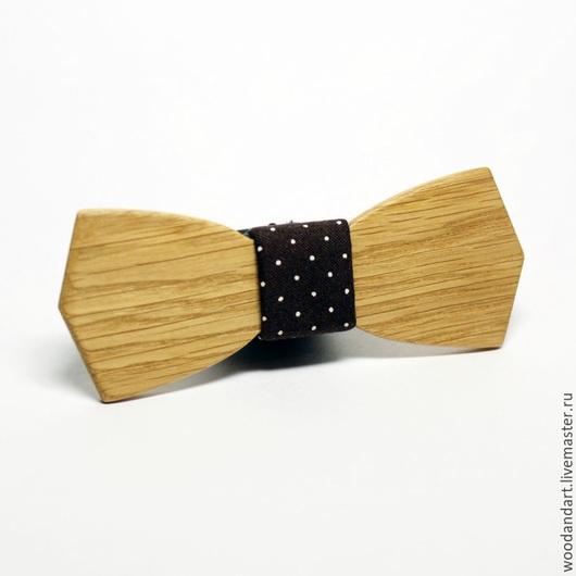 Галстуки, бабочки ручной работы. Ярмарка Мастеров - ручная работа. Купить Детская деревянная галстук бабочка. Handmade. Коричневый