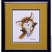 Картины и панно ручной работы. Ярмарка Мастеров - ручная работа Гламурная кошка.... Handmade.
