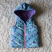 Работы для детей, ручной работы. Ярмарка Мастеров - ручная работа Детский стеганы утепленный жилет. Handmade.