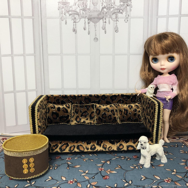 "Диван и пуфик ""Алан"", Мебель для кукол, Краснодар,  Фото №1"