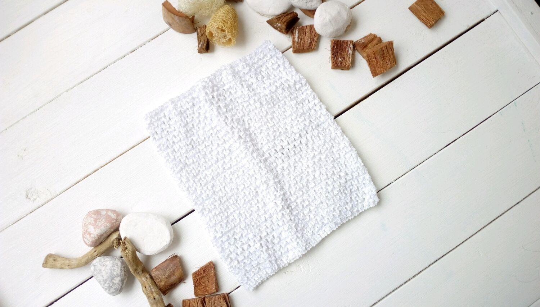 ручной работы. Ярмарка Мастеров - ручная работа. Купить Топ-резинка средний (18 см на 23 см) белый. Handmade.