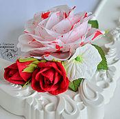 Украшения ручной работы. Ярмарка Мастеров - ручная работа Ободок с мраморной розой. Handmade.