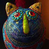 """Для дома и интерьера ручной работы. Ярмарка Мастеров - ручная работа Фигурка """"Цветочный котик"""".. Handmade."""