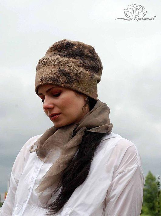 """Шапки ручной работы. Ярмарка Мастеров - ручная работа. Купить Валяная шапка """"Трюфель"""". Handmade. Зимняя шапка, валяная шапка"""
