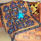 """Одеяла ручной работы. Ярмарка Мастеров - ручная работа Лоскутное одеяло """"Коты яркие"""". Handmade."""