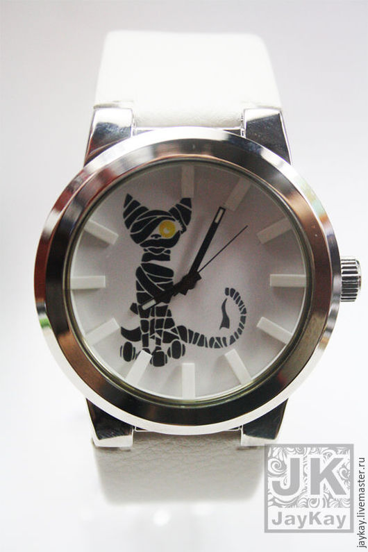 """Часы ручной работы. Ярмарка Мастеров - ручная работа. Купить Часы наручные JK """"Египетский кот"""" в единственном экземпляре. Handmade."""