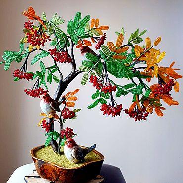 Цветы и флористика ручной работы. Ярмарка Мастеров - ручная работа Рябина красная. Handmade.