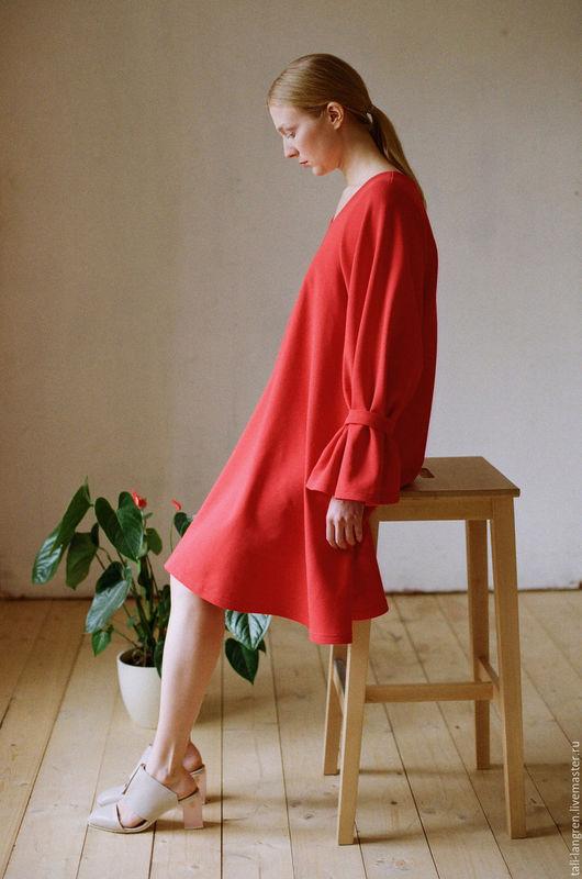 Платья ручной работы. Ярмарка Мастеров - ручная работа. Купить Red Flower. Handmade. Ярко-красный, нарядное платье, огненный