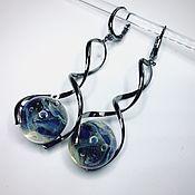 Украшения handmade. Livemaster - original item Earrings in the space provided . Space glass the universe.earrings galaxy. Handmade.