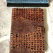Канцелярские товары handmade. Livemaster - original item Organizer for documents made of genuine Caiman leather (B5 format). Handmade.