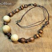 Украшения handmade. Livemaster - original item Beads of wood
