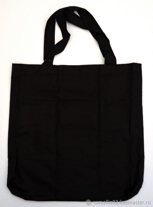 Складная эко-сумка с карманом и принтом