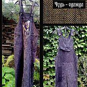 Одежда ручной работы. Ярмарка Мастеров - ручная работа Комбинезон джинсовый. Handmade.