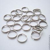 Материалы для творчества handmade. Livemaster - original item Double connecting ring 9 mm (5 pcs), all-in-one rings silver. Handmade.