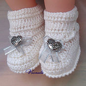 Работы для детей, ручной работы. Ярмарка Мастеров - ручная работа Пинетки-ботиночки. Handmade.