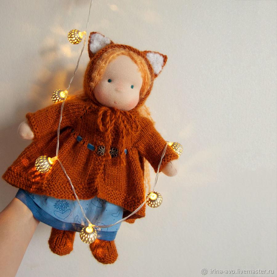 Вальдорфская кукла Лисичка, Вальдорфские куклы и звери, Самара,  Фото №1
