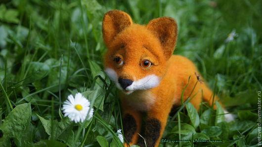 """Игрушки животные, ручной работы. Ярмарка Мастеров - ручная работа. Купить игрушка """"Рыжик"""". Handmade. Оранжевый, лисенок, зверюшки"""