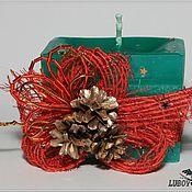 Сувениры и подарки ручной работы. Ярмарка Мастеров - ручная работа Свеча «Новогодние шишки». Handmade.