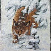 """Картины и панно ручной работы. Ярмарка Мастеров - ручная работа Картина из шерсти """"Охотница"""". Handmade."""