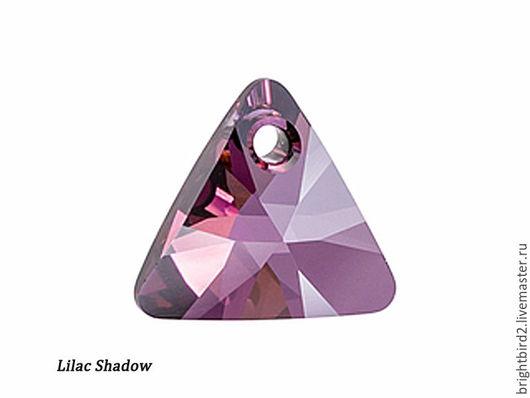 Для украшений ручной работы. Ярмарка Мастеров - ручная работа. Купить Подвеска Треугольник  6628 цвет Lilac Shadow Сваровски. Handmade.