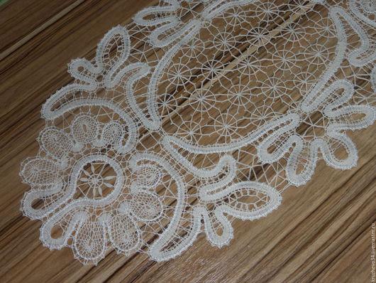 Текстиль, ковры ручной работы. Ярмарка Мастеров - ручная работа. Купить Салфетка овальная. Handmade. Белый, вологодское кружево, для декора