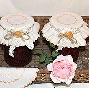 Для дома и интерьера ручной работы. Ярмарка Мастеров - ручная работа Салфетка-крышка для баночки с заготовками. Handmade.