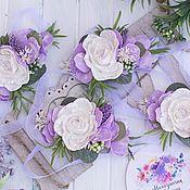 Браслеты ручной работы. Ярмарка Мастеров - ручная работа Браслет для невесты, браслет для подружек невесты, бутоньерка на руку. Handmade.