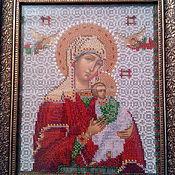 Картины и панно handmade. Livemaster - original item Icon of the Passionate image of the virgin. Handmade.