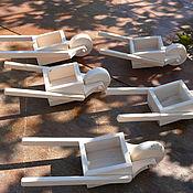 Куклы и игрушки ручной работы. Ярмарка Мастеров - ручная работа садовая тачка. Handmade.