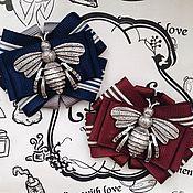 """Брошь-булавка ручной работы. Ярмарка Мастеров - ручная работа Брошь  """"Пчела"""" .. Handmade."""