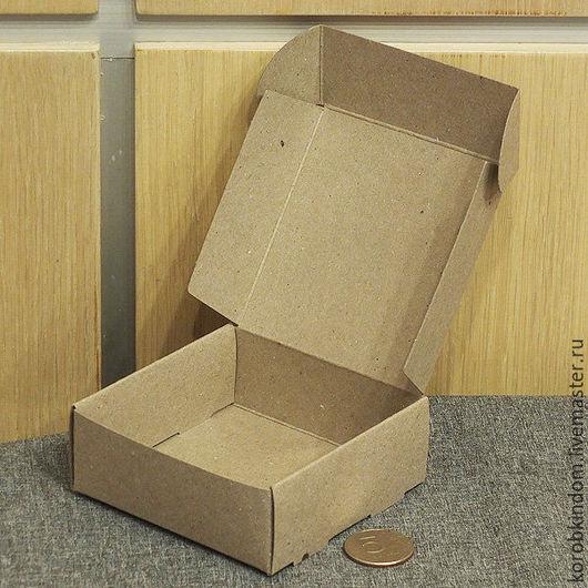 Упаковка ручной работы. Ярмарка Мастеров - ручная работа. Купить Коробочка 9х9х3,5 крафт. Handmade. Коробочка, коробка подарочная