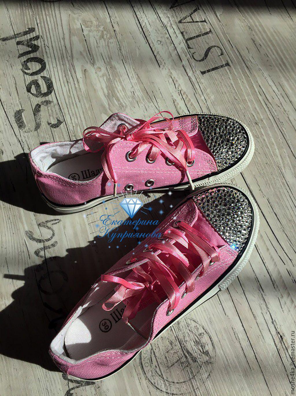 Ярмарка Мастеров - ручная работа. Купить Кеды с кристаллами Swarovski. Обувь  ручной работы. Кеды с кристаллами Swarovski. d498647660705