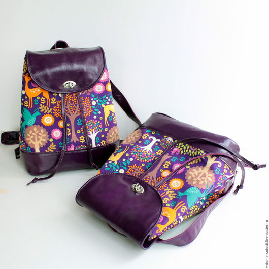 Кожаный рюкзак, рюкзак из натуральной кожи, летний рюкзачок, купить рюкзак на лето, лето 2016. Мастер Сечкина Юлия http://www.livemaster.ru/v-dome-radosti