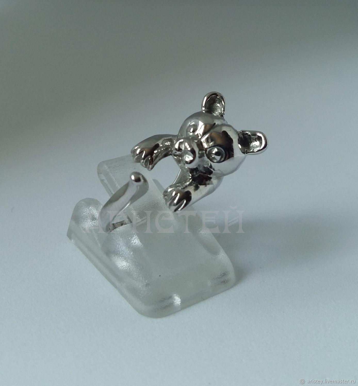 """Кольца ручной работы. Ярмарка Мастеров - ручная работа. Купить Кольцо """"Мишка"""". Handmade. Подарок девушке, серебро 925 пробы"""