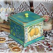 """Для дома и интерьера ручной работы. Ярмарка Мастеров - ручная работа Короб """"Citron"""". Handmade."""