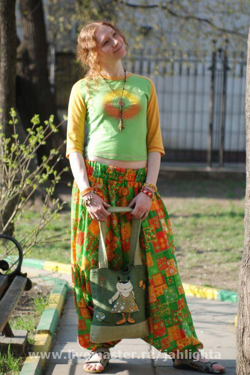 Ethnic Clothing handmade. Livemaster - handmade. Buy Punching.Punching, harem pants