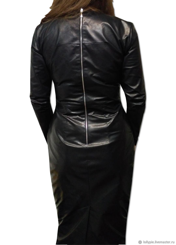 25a934513aac837 Платье кожа – купить в интернет-магазине на Ярмарке Мастеров с ...
